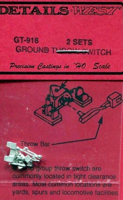 Details West HO 916 Ground Throw Switch Kits (2)