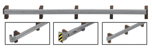 Walthers SceneMaster HO 949-4176 Roadway Guardrails Kit (12)