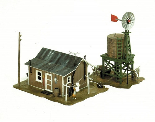 Life-Like HO 433-1338 Western Homestead Kit
