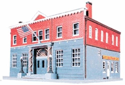 Life-Like HO 433-1382 Woodlawn Police Station Kit