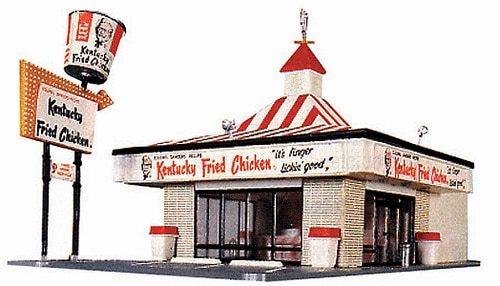 Life-Like HO 433-1394 Kentucky Fried Chicken Kit