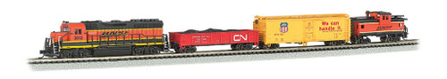 Bachmann N 24132 Roaring Rails Diesel Train Set, Burlington Northern Santa Fe (Sound and DCC Equipped)
