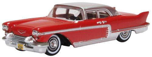 Oxford HO 87CE57002 1957 Cadillac Eldorado Brogham, Dakota Red Stainless Steel