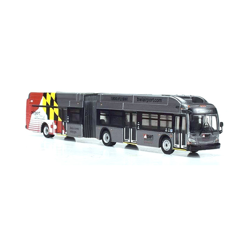 Iconic Replicas HO 87-0165 New Flyer Xcelsior XN60 Articulated Bus, BWI Airport, Maryland