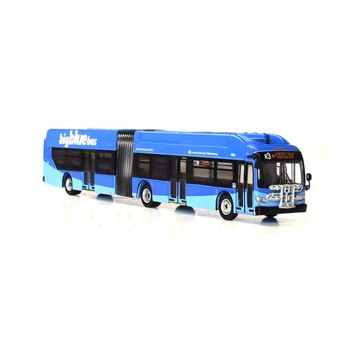 Iconic Replicas HO 87-0159 New Flyer Xcelsior XN60 Articulated Bus, Santa Monica Big Blue Bus