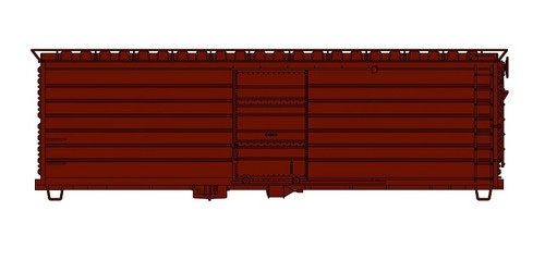 Accurail HO 3990 40' Single Door Phase 1 with Long Rib Steel Box Car Kit, Undecorated