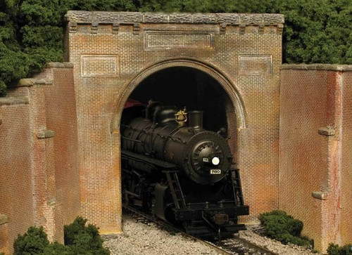 Monroe Models HO 150 B&O Style Single Track Tunnel Portal Kit, Brick
