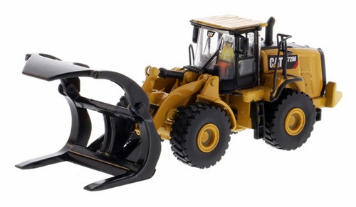 Diecast Masters HO 85950 High Line Series CAT 972M Wheel Loader with Log Fork