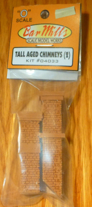 Bar Mills Scale Model Works O 04033 Tall Aged Chimney (2)