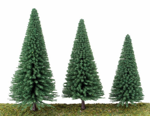 "Walthers Scenemaster HO 949-1180 Pine Trees 3-3/8"" (10)"