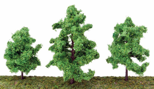 """Walthers Scenemaster HO 949-1183 Spring Trees 3-3/8"""" (10)"""