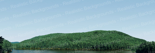 "Realistic Backgrounds 704-12 Mountain and Lake Scene 13"" x 38"""