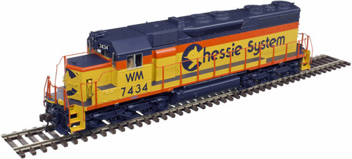 Atlas Master Line HO 10002786 Gold Series EMD SD35 with Low Nose, Chessie System (WM) #7435 (LokSound and DCC Equipped)