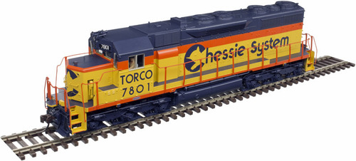 Atlas Master Line HO 10002787 Gold Series EMD SD35 with Low Nose, Chessie System (TORCO) #7801 (LokSound and DCC Equipped)