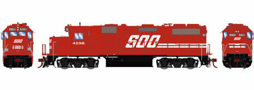 Athearn Genesis HO G65499 GP39-2, Soo Line #4598 (DCC and Sound Equipped)