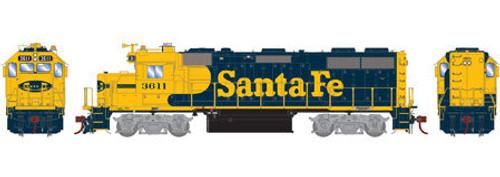 Athearn Genesis HO G65503 GP39-2, Santa Fe #3611