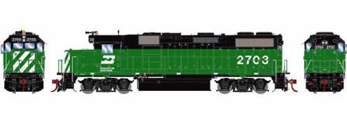 Athearn Genesis HO G65521 GP39-2, Burlington Northern #2707