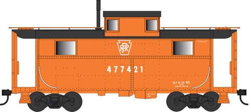 Bowser HO 42559 N5 Caboose, Pennsylvania Railroad (Focal Orange with Keystone) #477421