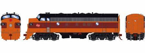 Athearn Genesis HO G12420 F7A, Milwaukee Road #73C (DCC and Sound Equipped)