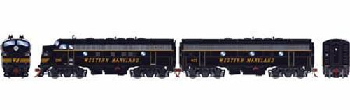 Athearn Genesis HO G12431 F7 A/B, Western Maryland #236/407 (DCC and Sound Equipped)