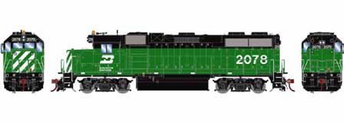 Athearn Genesis HO G68182 GP38-2, Burlington Northern #2082 (DCC and Sound Equipped)
