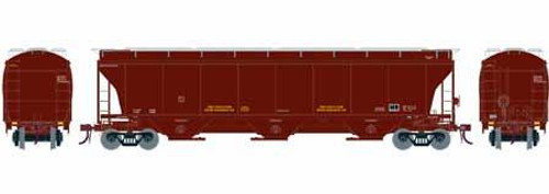 Athearn Genesis HO G89974 Trinity 3-Bay Hopper, Data Only (Brown)