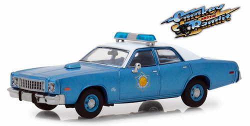 Greenlight Collectibles O 86536 1975 Plymouth Fury Arkansas State Police Car, Smokey and the Bandit (1:43)