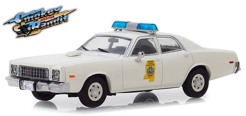 Greenlight Collectibles O 86557 1975 Plymouth Fury Mississippi Highway Patrol Car, Smokey and the Bandit (1:43)