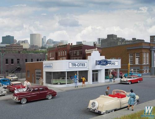 Walthers Cornerstone HO 933-3490 Vintage Ford Auto Dealer Kit