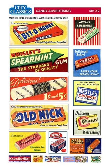 City Classics HO 501-12 Candy Advertising