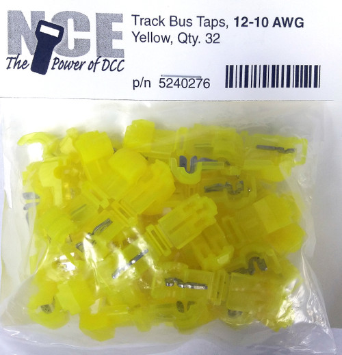 NCE 524276 (TBTY32) Track Bus Taps, Yellow (32)