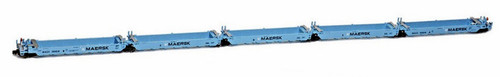 American Z Line Z 906504-2 Gunderson MAXI-I Articulated Well Car Set, Maersk #100010 (5-Pack)