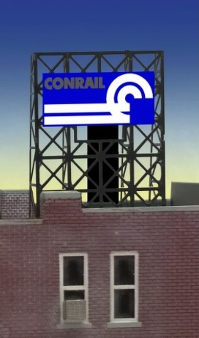 Miller Engineering N/Z 33-9105 Conrail Billboard, Animated Neon Style Sign Kit
