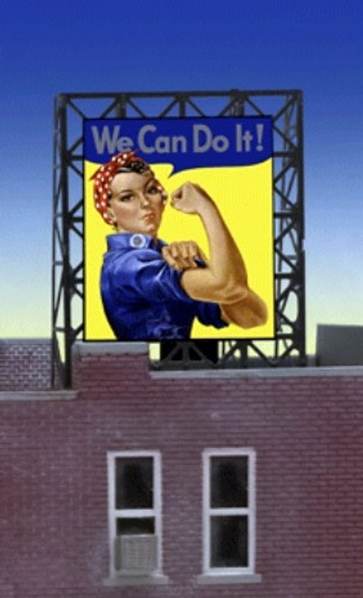 "Miller Engineering N/Z 33-9110 ""We Can Do It!"" Billboard, Animated Neon Style Sign Kit"