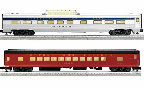 Lionel O 1927210 Excursion Private Car 2 Car Set A, Norfolk Southern