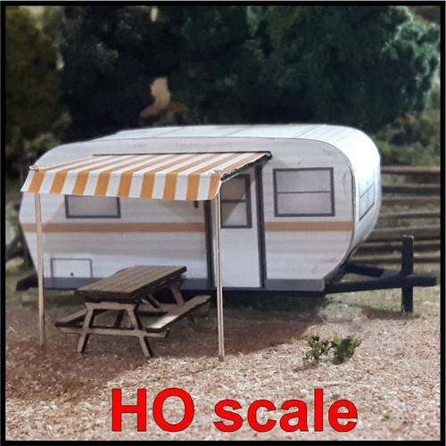 Osborn Model Kits HO 1126 15' Travel Trailer Kit