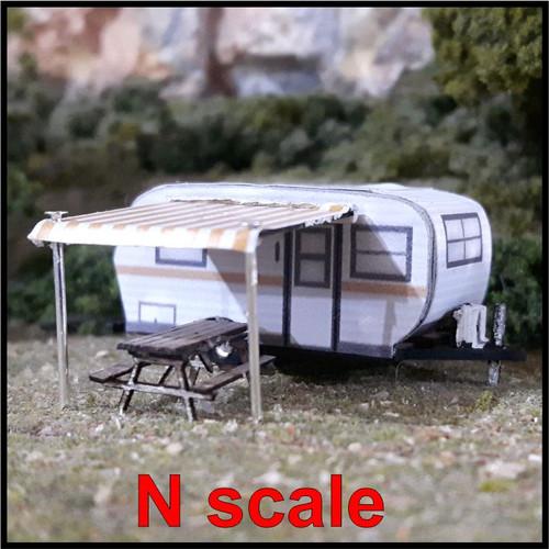Osborn Model Kits N 3126 15' Travel Trailer Kit