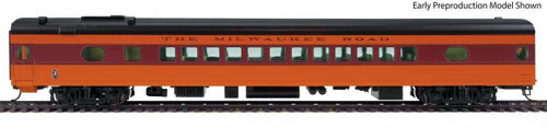 Walthers Proto HO 920-9093 85' 52-Seat Coach, Milwaukee Road (Twin Cities Hiawatha) #537 (535 Series Orange)