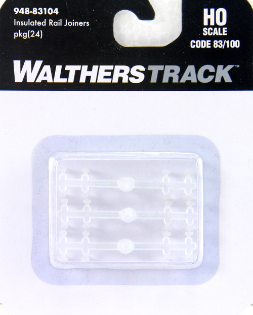 Walthers HO 948-83104 Insulated Rail Joiners for Codes 83/100 Track (24)