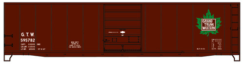 Accurail HO 5508 50' Riveted Steel Box Car Kit with Superior Door, Grand Trunk Western #595782