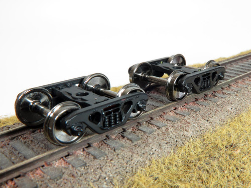Rapido HO 102100 70-Ton 3-Spring Freight Trucks with Roller Bearings (2)
