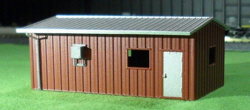 Deluxe Innovations N D336 Armco Steel Building Guardhouse, Brown