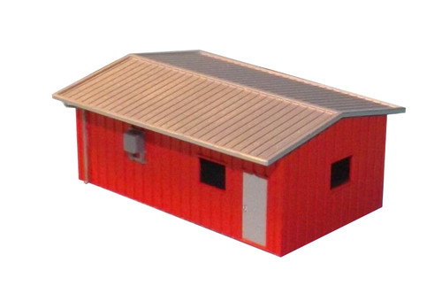 Deluxe Innovations N D337 Armco Steel Building Guardhouse, Red