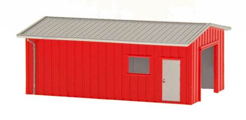 Deluxe Innovations N D357 Armco Steel Building Workshop, Red
