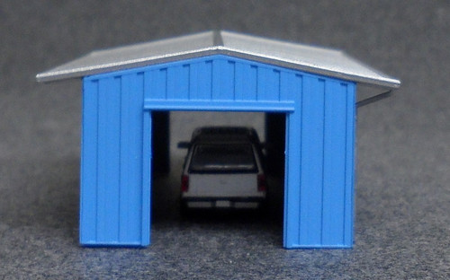 Deluxe Innovations N D382 Armco Steel Building Shed, Blue