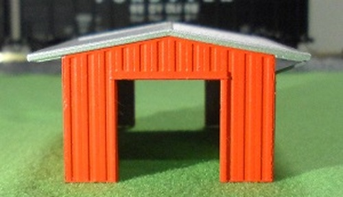 Deluxe Innovations N D387 Armco Steel Building Shed, Red