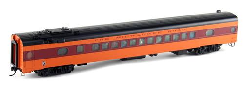 Walthers Proto HO 920-9110 85' 52-Seat Coach, Milwaukee Road (1952-56 Twin Cities Hiawatha) #511 (498 Series Orange)