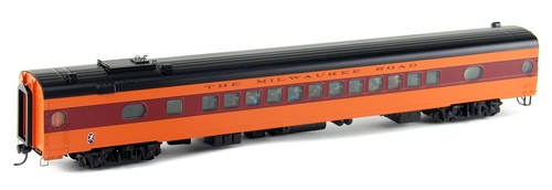 Walthers Proto HO 920-9111 85' 52-Seat Coach, Milwaukee Road (1952-56 Twin Cities Hiawatha) #544 (535 Series Orange)