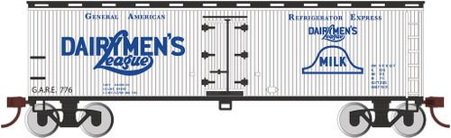 Bachmann HO 19810 40' Wood Side Refrigerator Box Car, Dairymens League
