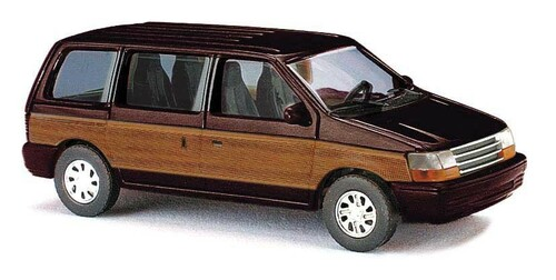 Busch HO 44624 1990 Plymouth Voyager Mini Van, Metallic Brown